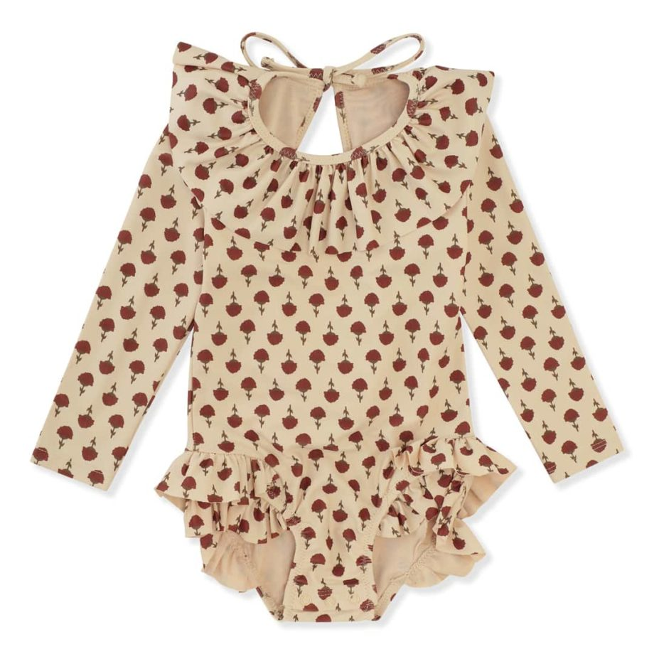 maillot anti uv a manches longues poppy flower konges slojd