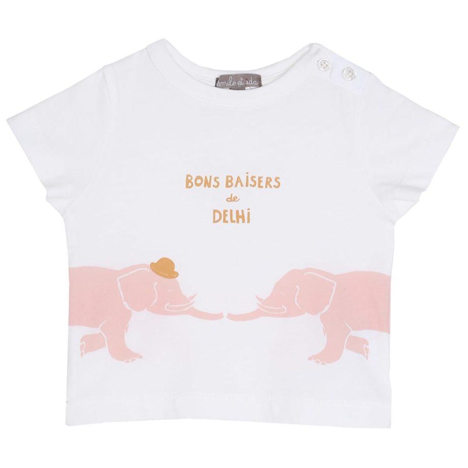 T-shirt éléphants roses Emile et Ida